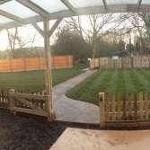 The view of the first part of our Gardens from the Toddler and Preschool undercover area.