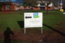 Sign from the road pointing you to the nursery. December 2012