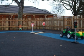 Our Bouncy Safety Surface Garden with soft road system. December 2012