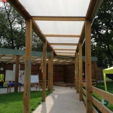 Undercover Walkway to the Preschool Outdoor Classrooms